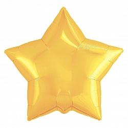 """Шар фольга звезда """"Желтый"""", 46 см"""