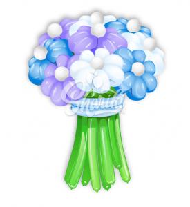 """Цветы из шаров """"Букет №5"""""""