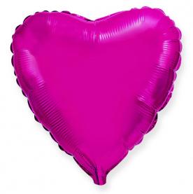 Стандартный шар-сердце, Фольгированный, Пурпурный