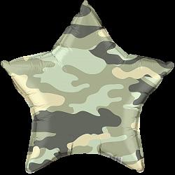 """Звезда камуфляжный 18""""/46см, военный."""