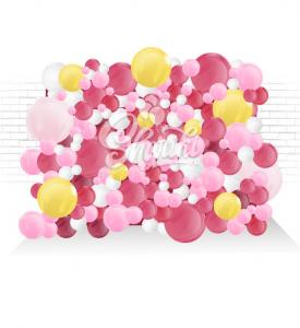 Пена/стена из воздушных шаров. На каркасе. Цена за 1 метр