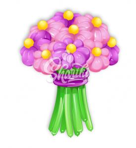 """Цветы из шаров """"Букет №6"""""""