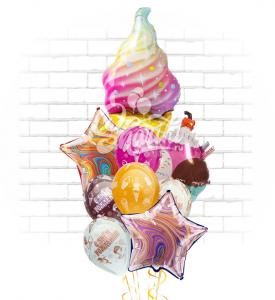 "Композиция ""Мраморное мороженое"""