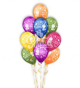 """Фонтан из шаров """"С днём рождения, малыш"""""""