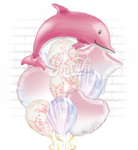 """Композиция """"Дельфин розовый"""""""
