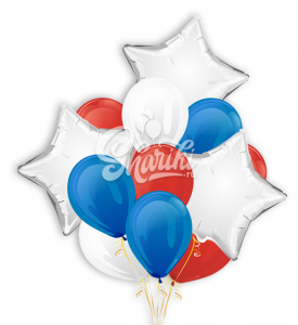 """Букет воздушных шаров """"Патриот"""""""