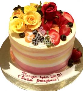 """Торт """"Цветы"""". Цена за 1 кг."""
