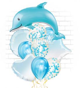 """Композиция """"Дельфин голубой"""""""