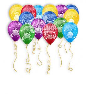 """Шары под потолок """"С днем рождения"""" со сладостями"""