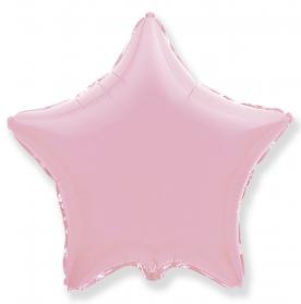"""Шар Звезда фольга """"Розовый"""", 46 см."""