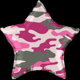 """Шар Звезда фольга """"Хакки"""" оттенки розового"""
