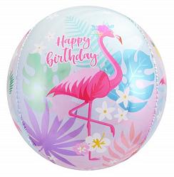 """Шар сфера 3D """"Фламинго"""""""