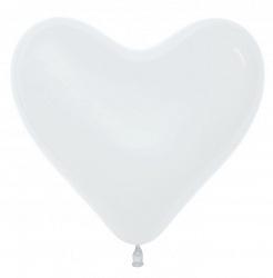 """Шар латекс сердце """"Белый"""",12""""/30 см"""