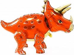 """Ходячая фигура """"Динозавр Трицераптос"""", оранжевый"""