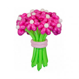 """Цветы из шаров """"Розовые мечты"""""""