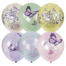 "Шар латекс ""Бабочки"", 36 см"