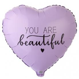 """Сердце фольга """"Ты красивая"""""""