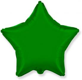 """Шар Звезда фольга """"Зеленый"""", 46 см."""