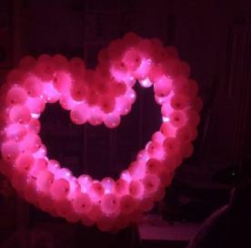 Сердце светящееся 1200мм*1000мм