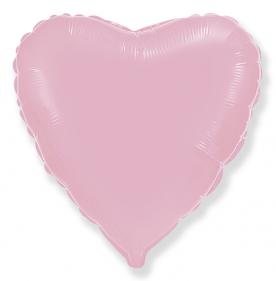 Стандартный шар-сердце, Фольгированный, Розовый