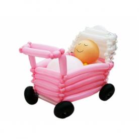"""Фигура из шаров """"Малыш в коляске"""""""