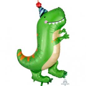 """Фигура фольга """"Динозавр зеленый"""""""