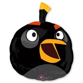 "Шар Фигура фольга ""Angry Birds Черная Птица"""