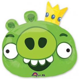 """Шар Фигура фольга """"Angry Birds Король Свиней"""""""