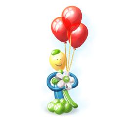 """Фигура из шаров """"Веселый смайлик"""""""