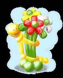 """Композиция """"Человечек с цветами"""""""