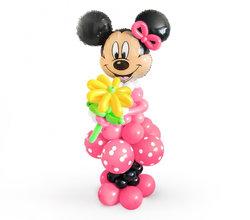 """Фигура из шаров """" Минни с цветочком"""""""