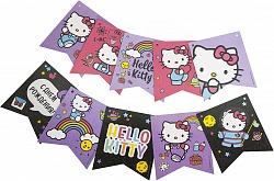 Гирлянда-флажки Hello Kitty, 300 см