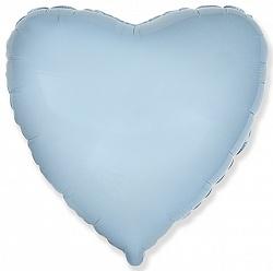 Шар Сердце фольга голубой 46 см
