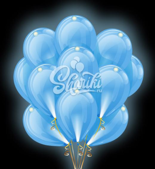 """Светящиеся шары Облако """"Голубые"""""""