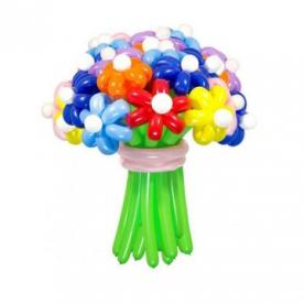 """Цветы из шаров """"Цветные ромашки"""""""