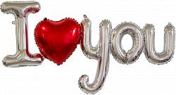 "Надпись буквы ""I Love you"",серебро"