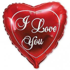 "Сердце фольга ""I love You"""