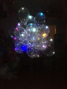 """Шары прозрачные светящиеся 14""""/35 см с цветным диодом"""