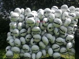 Пресс - волл из шаров фольга