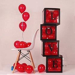 """Коробки """"Love"""", 4 шт с шарами"""