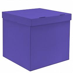 Коробка пустая лиловая, 60*60*60