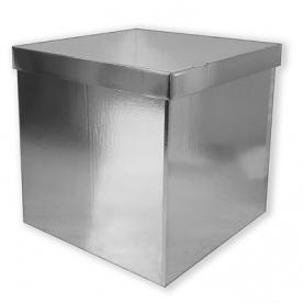 Коробка пустая серебро 60*60*60
