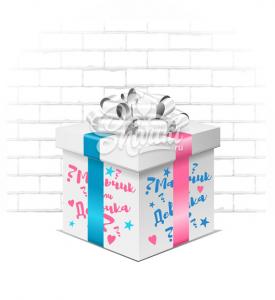 """Коробка-сюрприз """" Определение пола"""""""