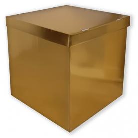 Коробка пустая золото 60*60*60