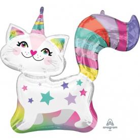 """Фигура фольга """"Звездная кошка единорог"""""""