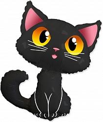 """Фигура фольга """"Котенок черный"""""""