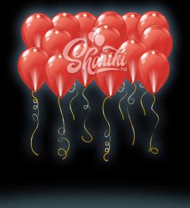 """Светящиеся шары под потолок """"Красные"""", 36 см"""