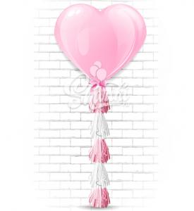 "Шар сердце латекс ""Розовый гигант"",на тассел гирлянда"