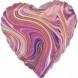 "Сердце фольга ""Мрамор Purple"""