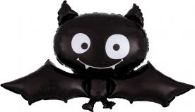 """Фигура фольга """"Летучая мышь,черная"""""""